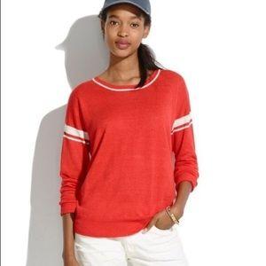 Madewell | Linen Varsity Stripe Pullover Sweater